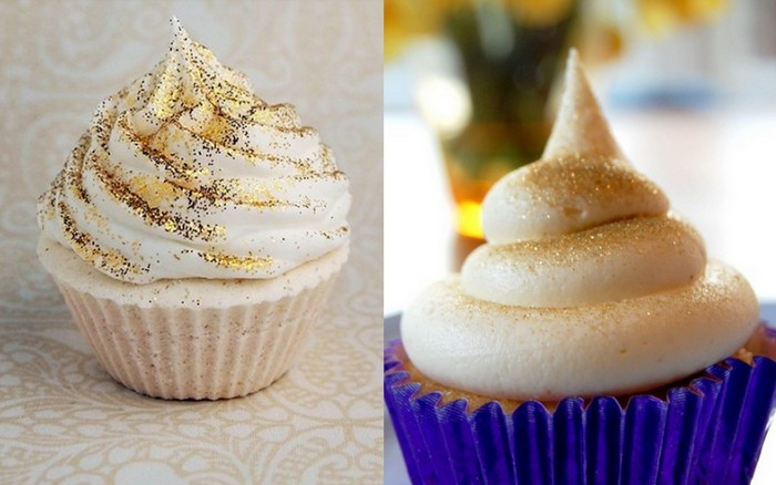 1-gold frosted cupcake