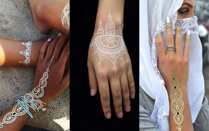 Trending Are White Henna Tattoos The New Mehendi Wedmegood