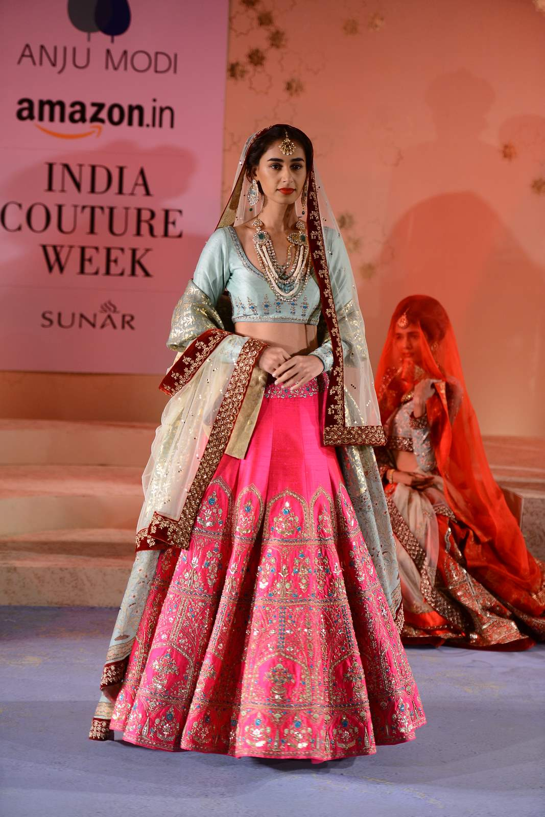 Anju Modi At Aicw 2015 Dreamy Bridal Collection Titled