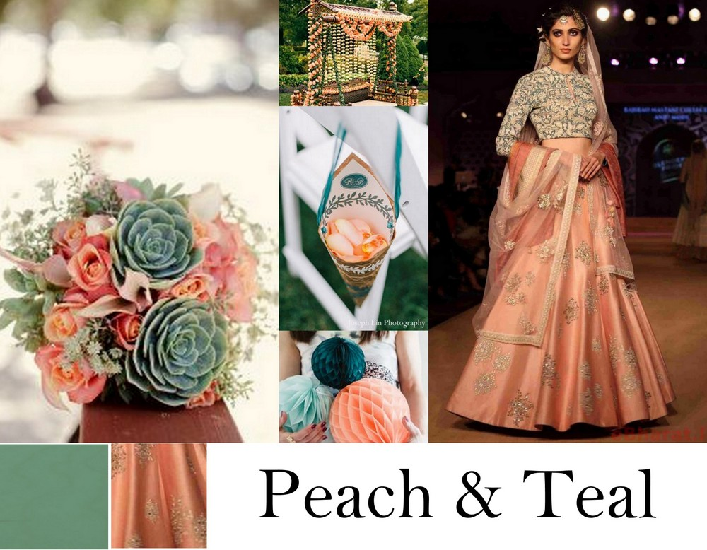 6 unusual wedding colour combinations to bookmark you - Peach and red combination ...