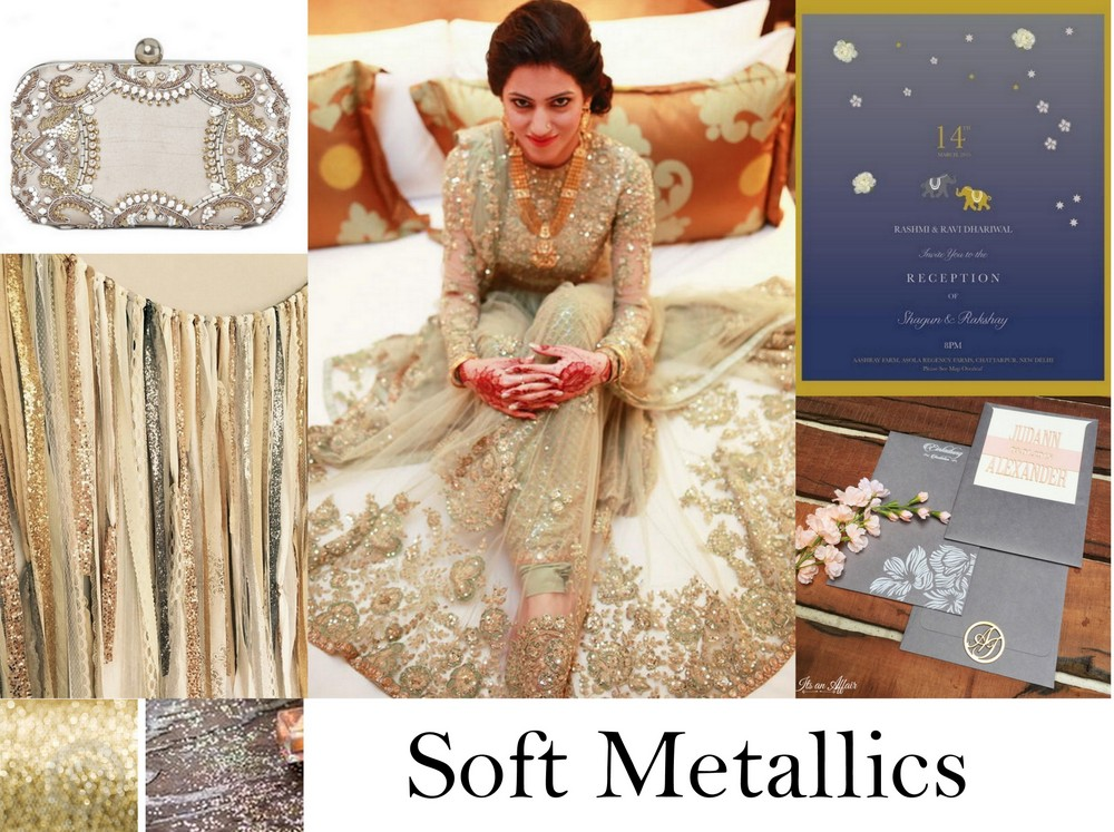 c64a1f76d8b ... the soft metallic hues we are spotting in Indian weddings. From ash  grey to muted gold