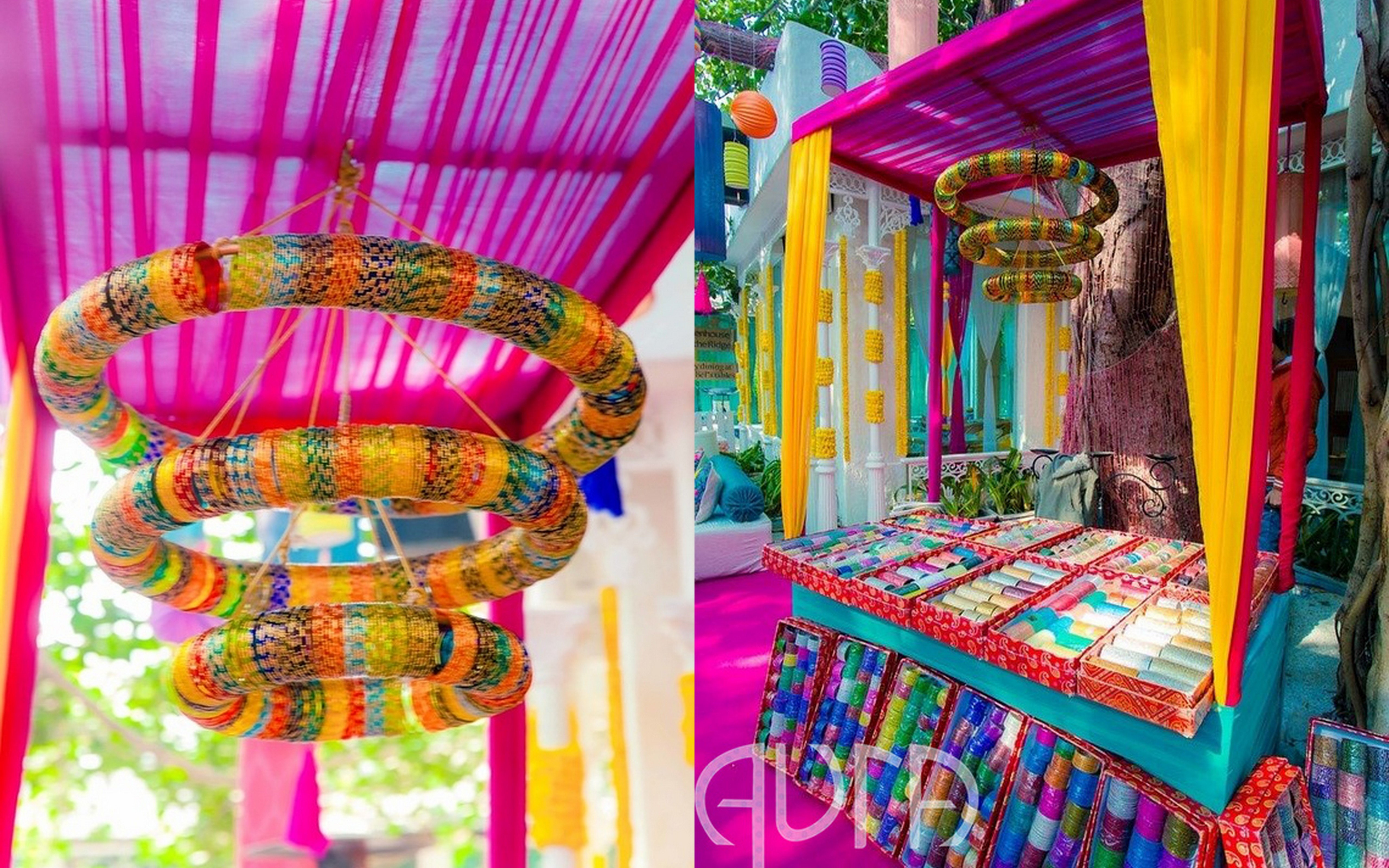 6 innovative ways to use bangles in your wedding decor for Innovative decoration ideas