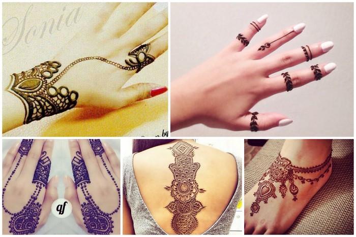 Beautiful Henna Mehndi Jewellery : Trending mehendi that looks like jewellery wedmegood