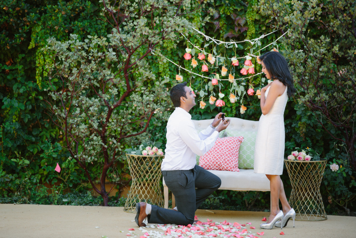 Beautiful and chic proposal story with oodles of sweet - Boy propose girl with rose image ...