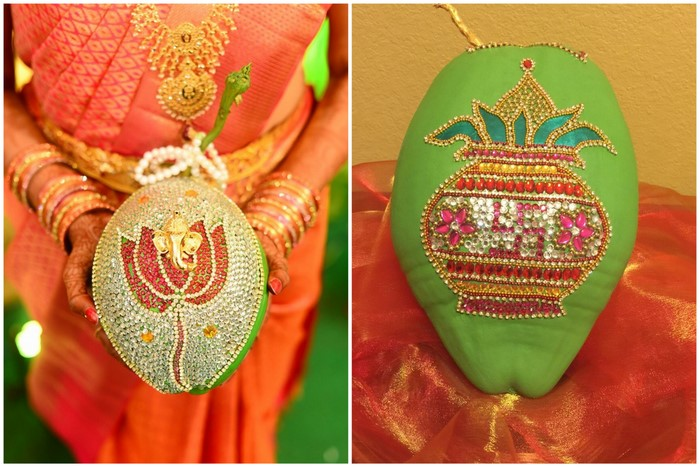 Trending: Embellished Coconuts at South-Indian Weddings! | WedMeGood