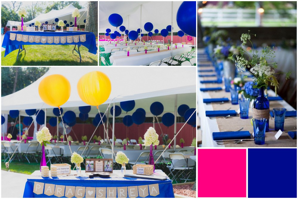 Unusual wedding colour themes to use for day weddings wedmegood fuchsia electric blue colour combos2 junglespirit Images