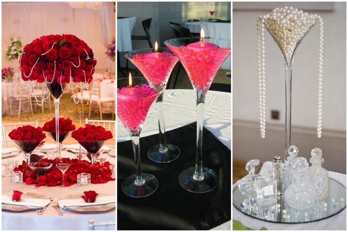 martini glasses decor1