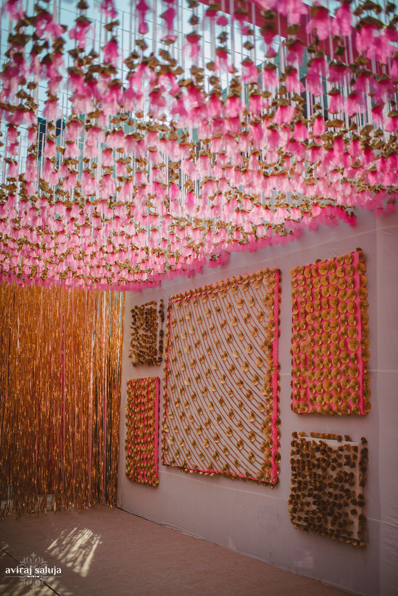 wedding wall decoration ideas trending gota as wedding decor take a look and decide 1213