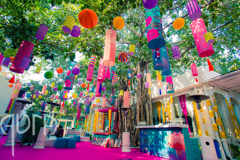 Best ways to use paper creatively in your wedding decor for Sangeet decorations at home
