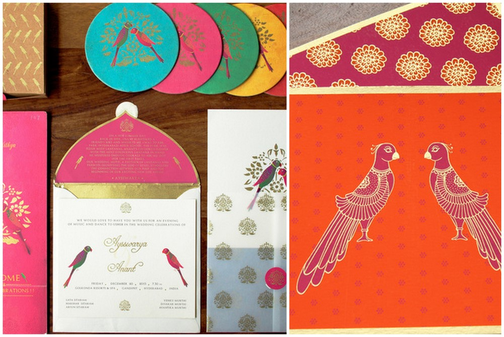 On Wedding Cards Parrots