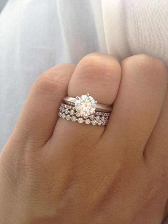 0f0e9ad124872b Trending: Stackable Engagement Rings! | WedMeGood