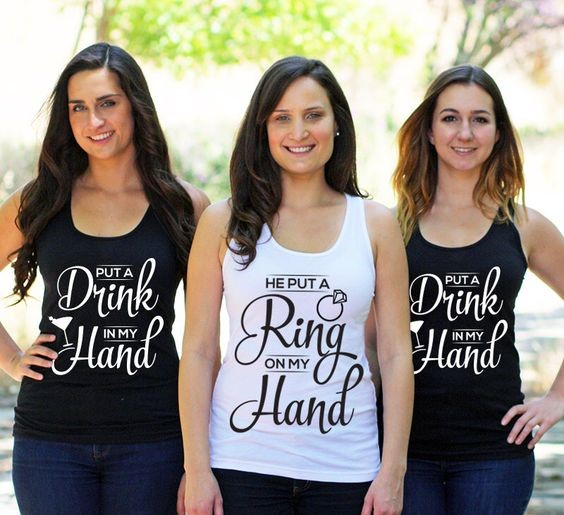 The cutest slogan tees for your bachelorette party for Wedding dress t shirt designs