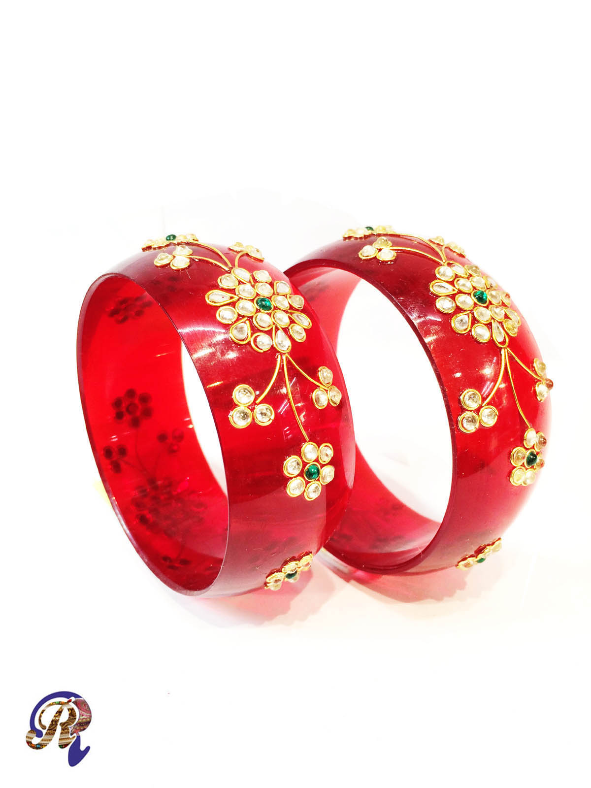 women stylish of girls buy acrylic set partywear red sukriti silk colors thread dp for designer bangles