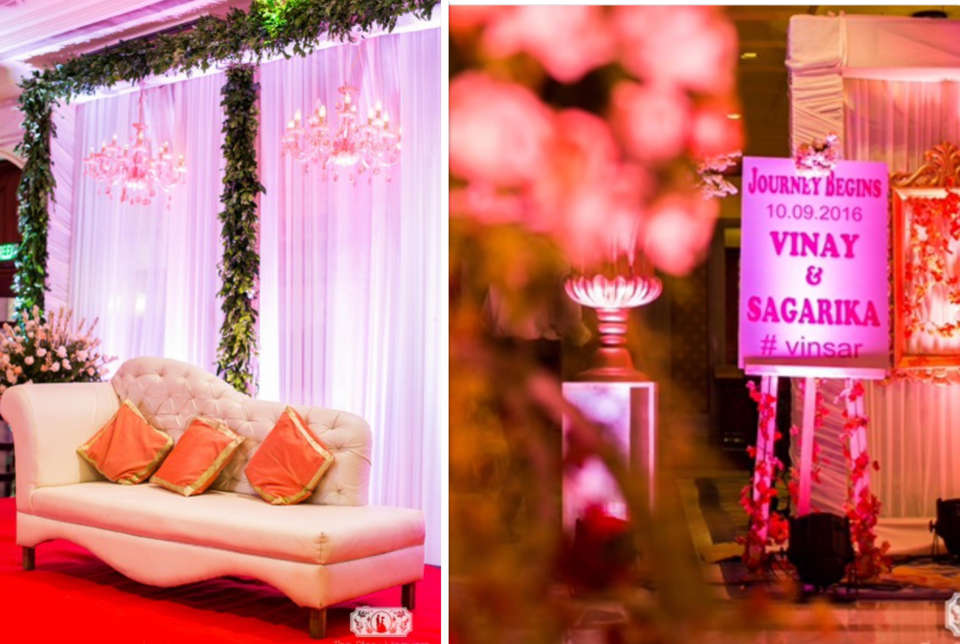 Save and splurge wedding decor themes for every budget wedmegood atisuto events decor budget under rs 2 lakh shabby chic theme wedding where we used a lot of rustic elements to give the wedding a very vintage vibe junglespirit
