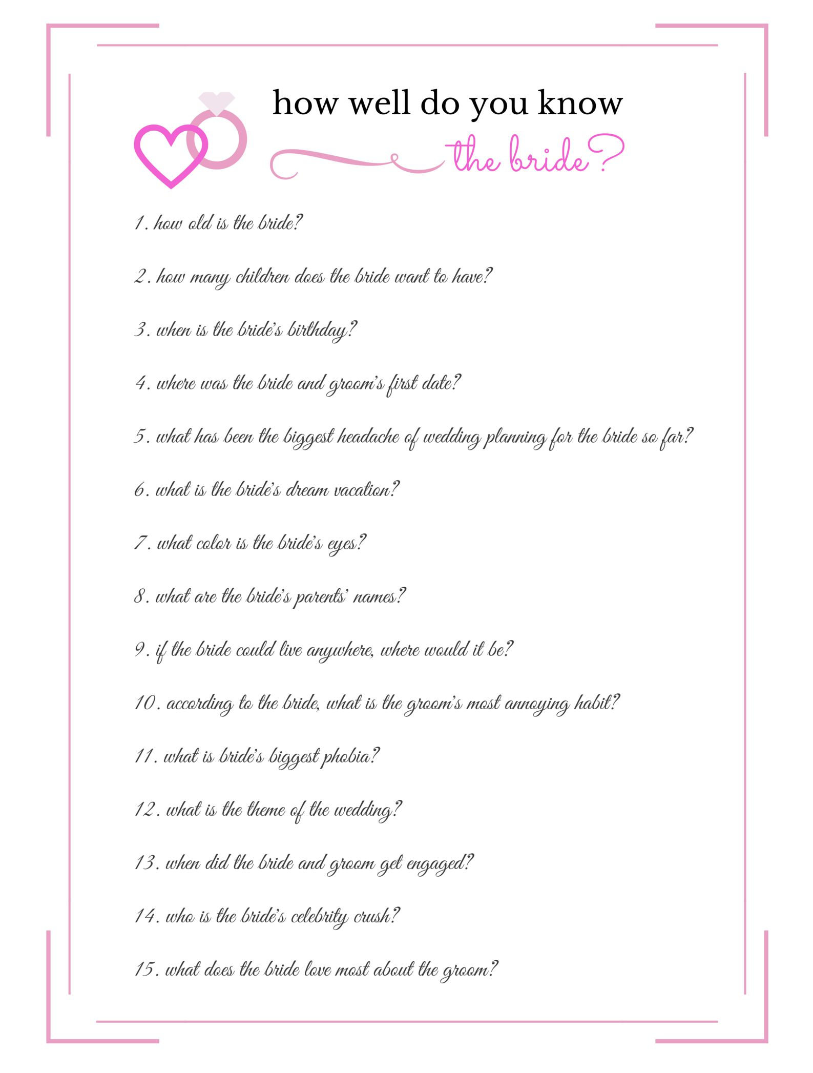 Most Likely To Questions >> From Wild To Sober 10 Bachelorette Party Games To Have